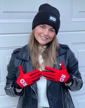 Red gloves Rode bmx mountainbike handschoenen