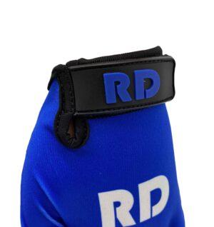 blauwe mountainbike handschoenen detail