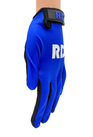 blauwe mountainbike pumptrack handschoenen
