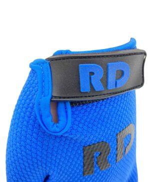 blue bmx gloves detail premium line